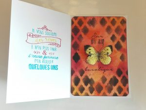 Carte papillon scrap en relief