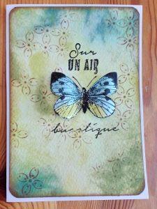 Carte DIY fait main soi-même pour le printemps avec encres memento