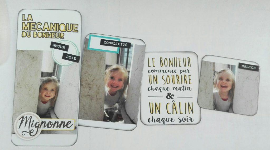Tags etiquettes pour mini-album bonheur fête des mères