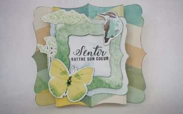 Carte scrapbooking printemps papillon Scrap Plaisir