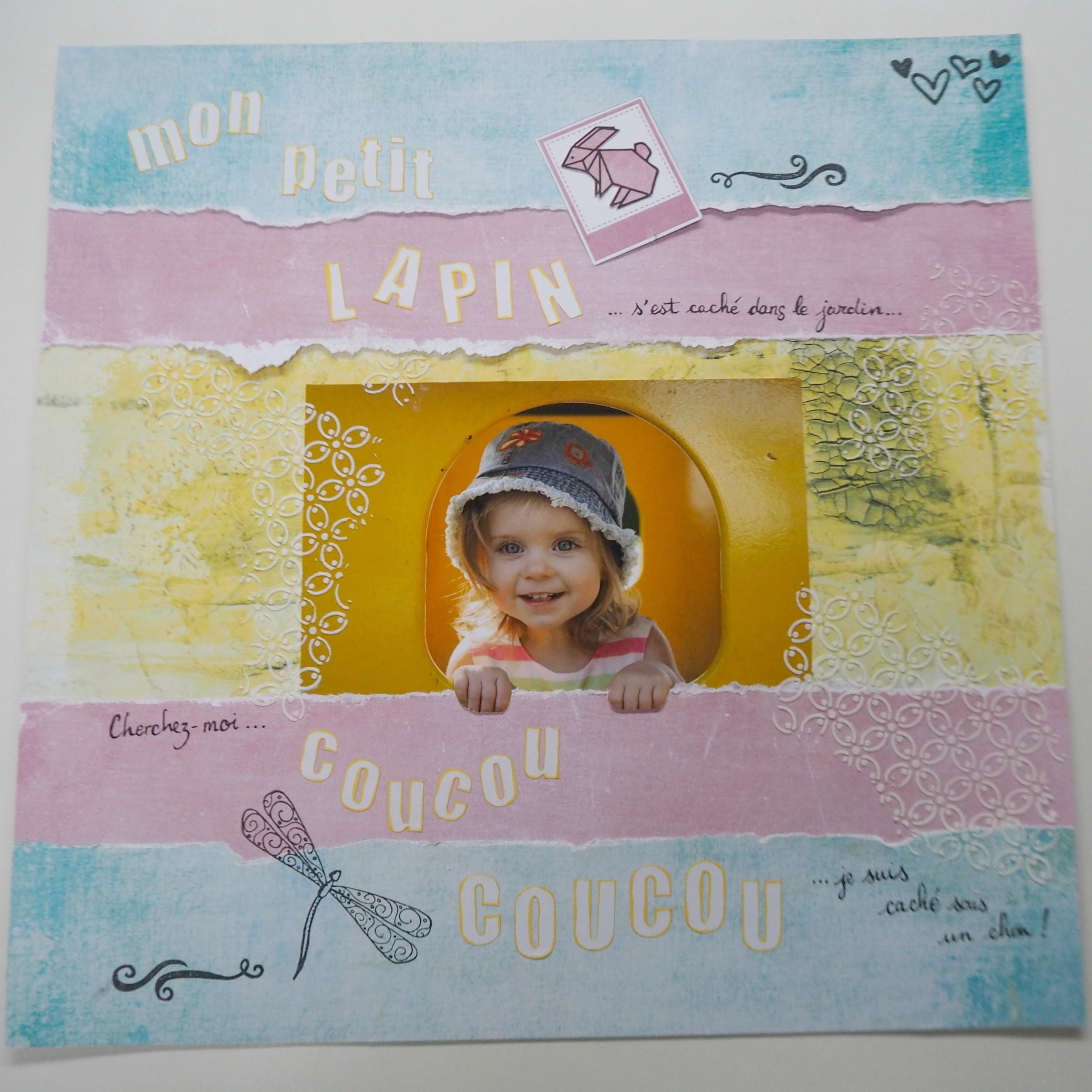 Page scrapbooking Pâques bébé enfant comptine