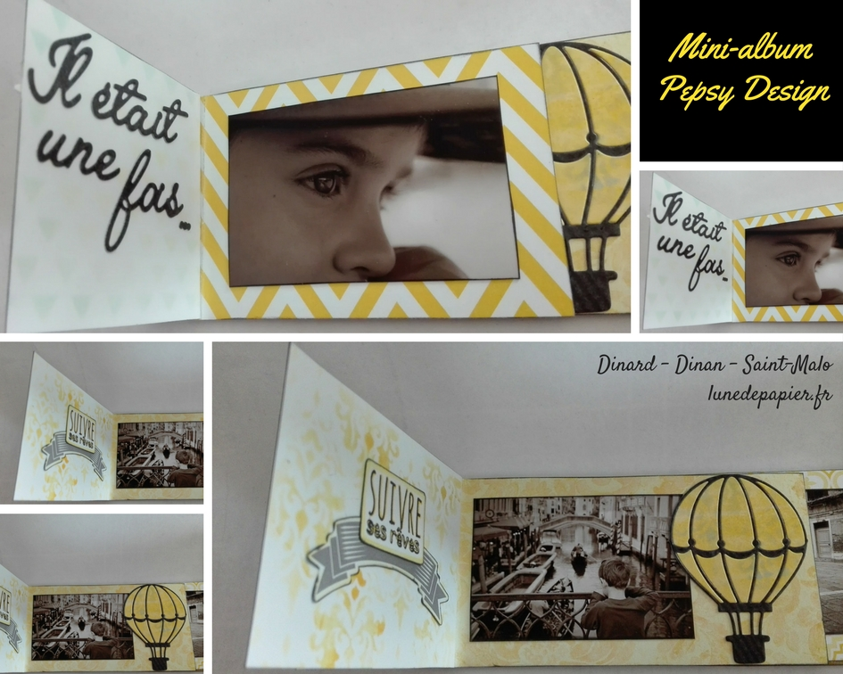 mini album scrap diy facile photos noir et blanc