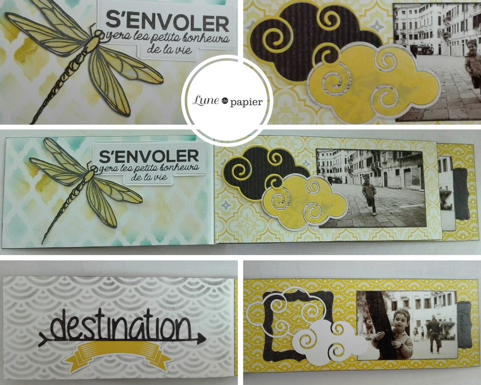 détail décorations mini-album photo scrap carnet de voyage