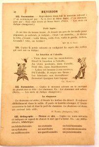 Leçon de vocabulaire vieux livre ancien papier jauni à imprimer