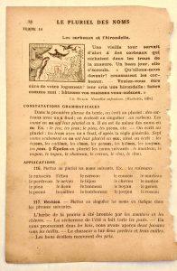 vieux livre de grammaire illustrée cours élémentaire
