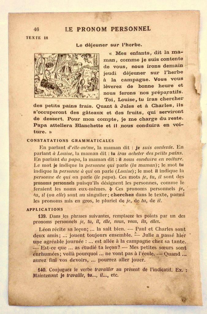 manuel scolaire illustré ancien page gratuite