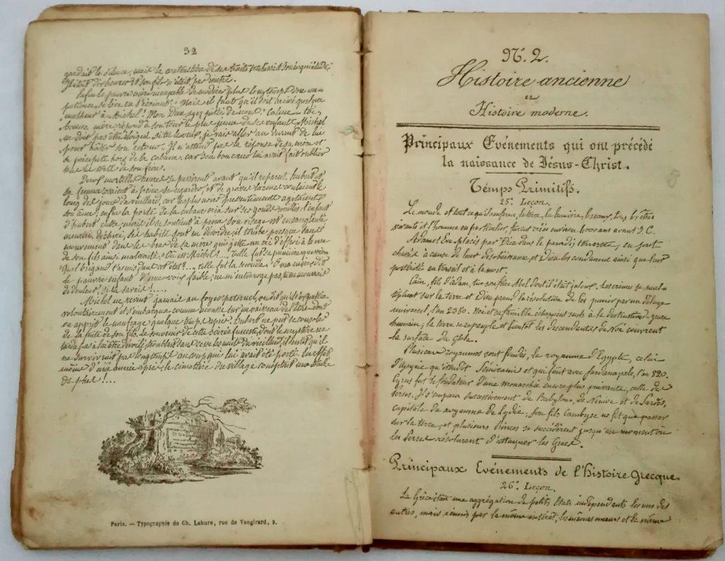 calligraphie scolaire 19ème siècle