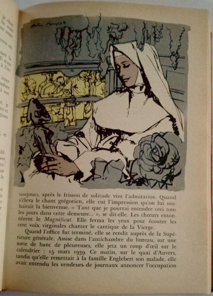 Roman illustré année 60 page à imprimer pour artiste