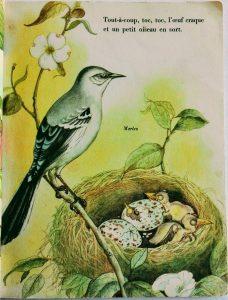 illustration printemps vintage