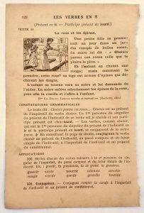 école cours de conjugaison classe élémentaire années 20