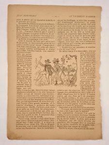page vintage de revue illustrée