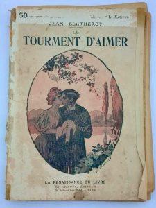 couverture de revue littérature sentimentale vintage à imprimer