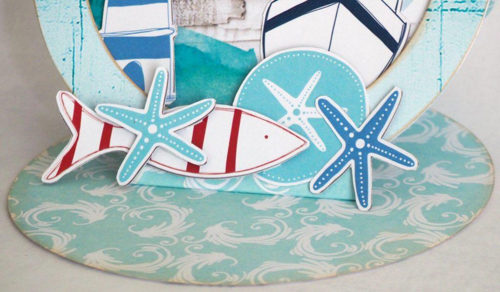 Poissons et étoiles de mer pour carte estivale