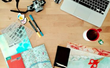 Lifestyle mon bureau de blogueuse scrap bien rangé