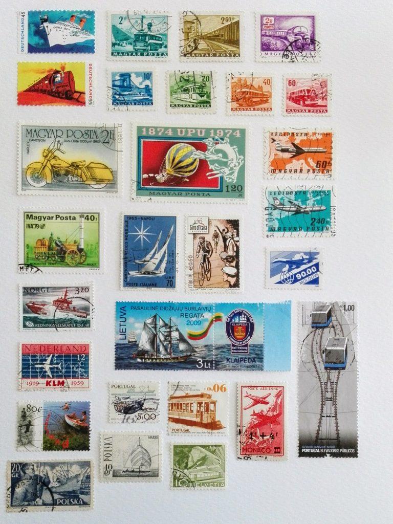 Des timbres poste pour décorer nos albums et carnets de voyage