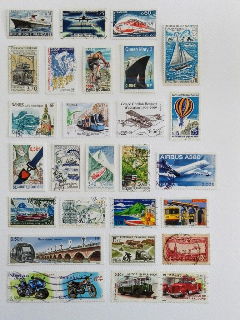 timbres-poste modernes et anciens gratuits à imprimer et découper