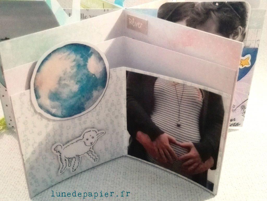 Mini album tendresse souvenir de grossesse