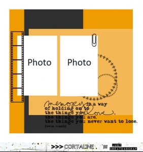Une page de scrap avec plusieurs photos